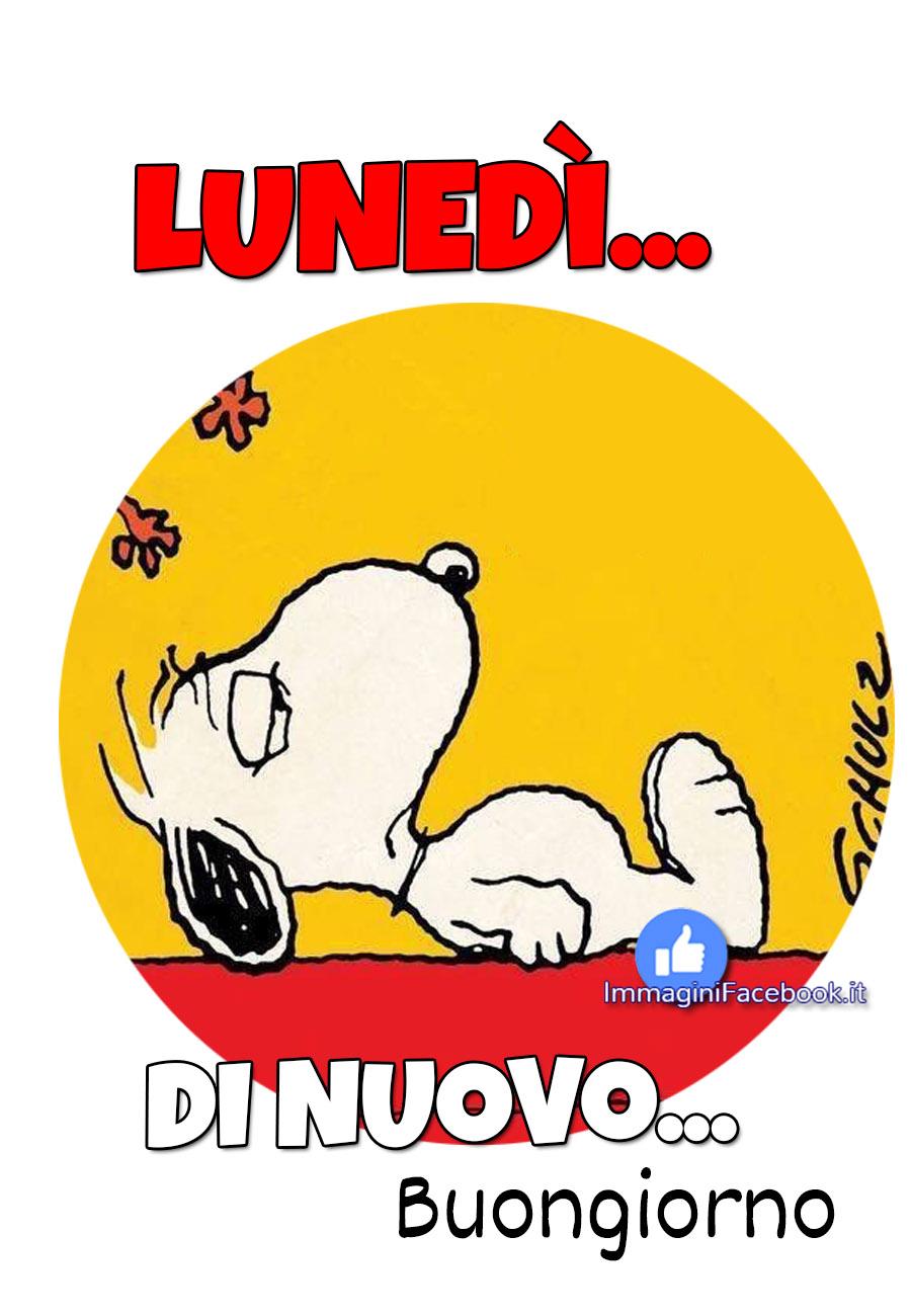 Buon Lunedì Snoopy immagini nuove