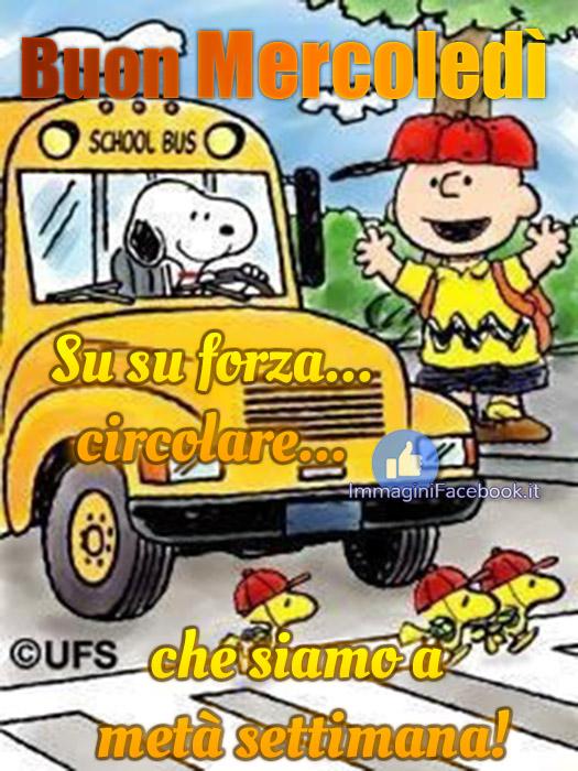 Buon Mercoledì immagini con Snoopy