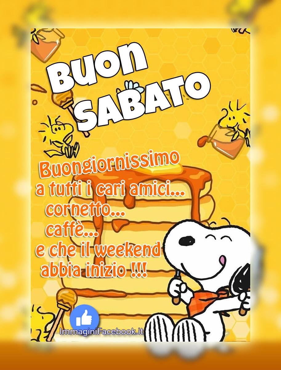 Buon Sabato Buongiorno Nuove Snoopy Immaginifacebookit