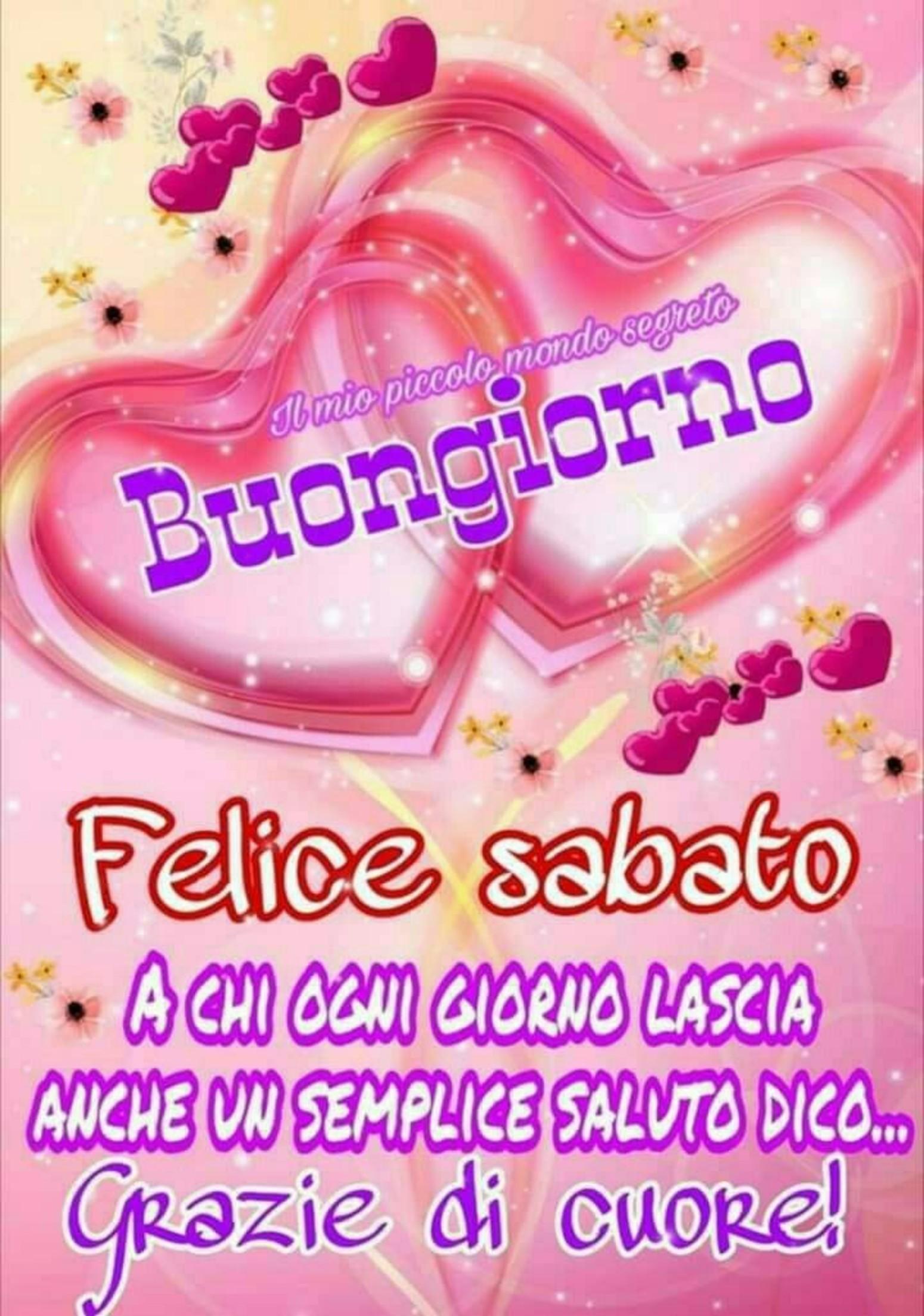 Buon Sabato Con Il Cuore 5 Immaginifacebook It