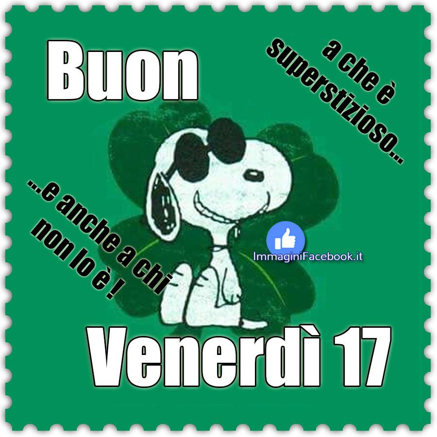Buon Venerdì 17 immagini Snoopy