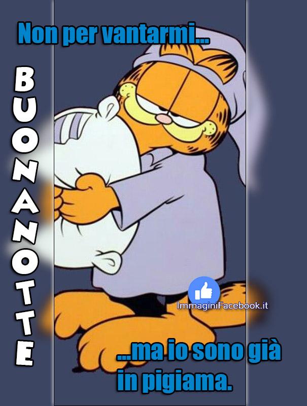 Buonanotte simpatico con Garfield