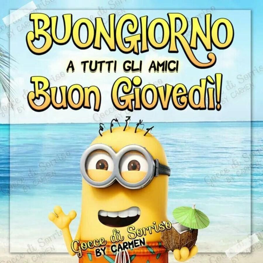 Buongiorno Buon Giovedì Estate Minions Immaginifacebook It