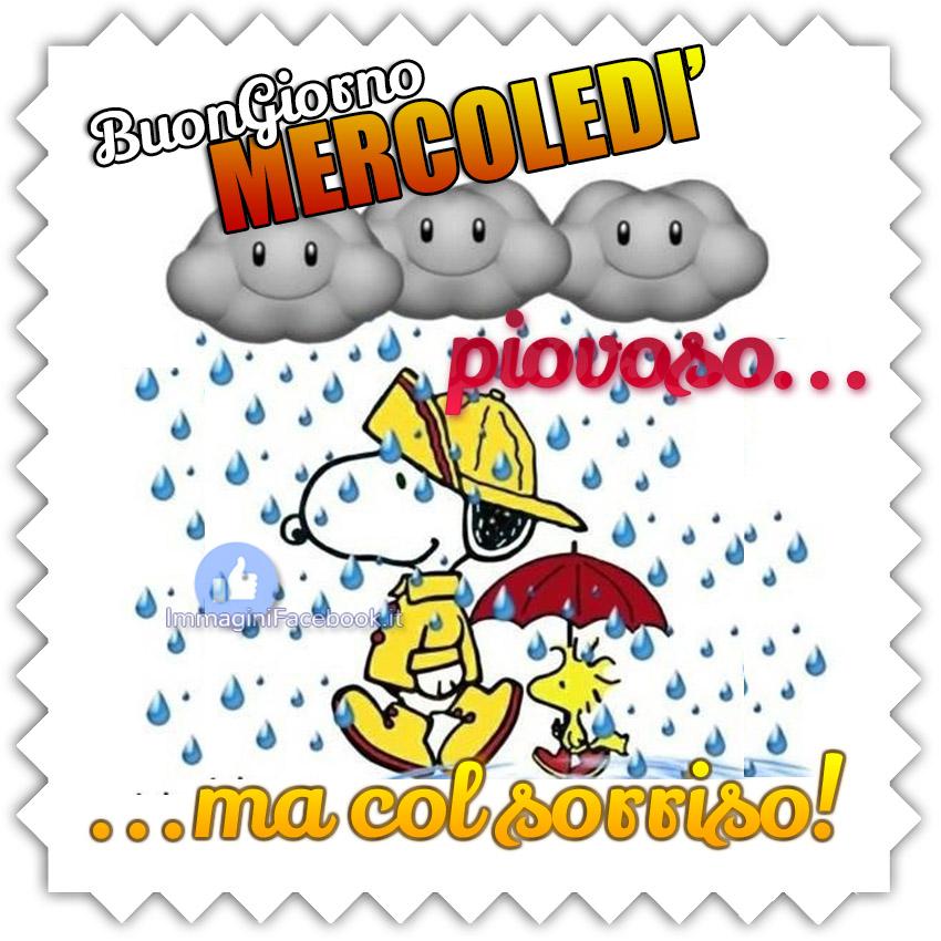 Buongiorno Buon Mercoledì Piovoso Immaginifacebookit