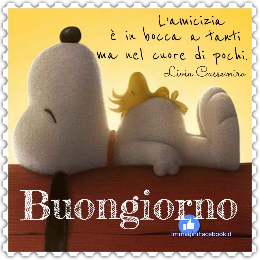 Buongiorno Snoopy immagini con frasi