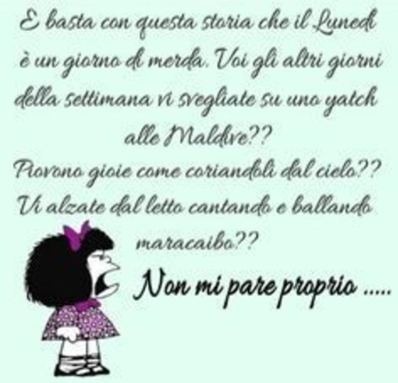Mafalda Buon Lunedi Immaginifacebook It