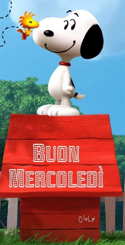 Snoopy buongiorno e Buon Mercoledì