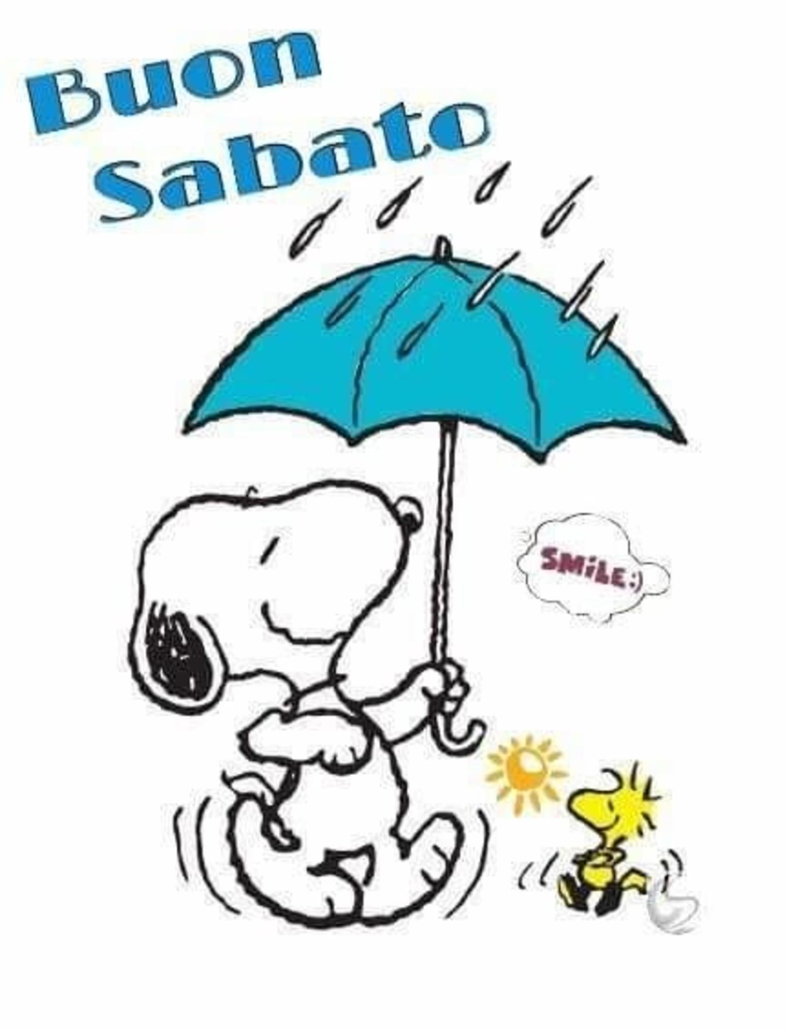 Snoopy piove Buon Sabato